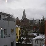 View to the church Hallgrimskirkja