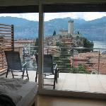 View through the 3rd floor room window into the balcony