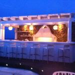 outside bar at night