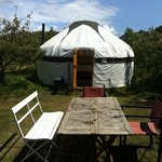 Our Yurt at Apple Farm