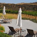 Lower patio overlooking Brosseau Vineyards