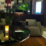 One of the hotel sitting areas