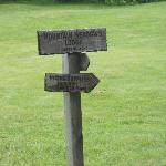 Mountain Meadows Lodge - A welcome sign for AT hikers