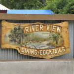 RIVER VIEW CARVED SIGN