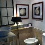 bathroom in junior romantic suite- shower to the left