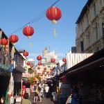 Blick in eine Straße Chinatowns
