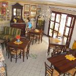 La sala delle colazioni e relax