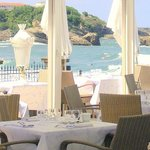 View on the Beach from Restaurant Hippocampe