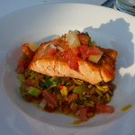 1/2 Salmon entree at Aqua Sol