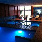 spa area with heated loungers
