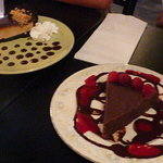 Chocolate torte and peanut butter pie, yummy!