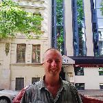 me outside the Logos Hotel