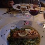 Salmon with Pesto Pasta