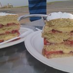 Just one of the splendid homemade cakes on offer