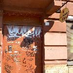 Front door of Pio Hotel