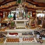 Dessert choices in Main restaurant