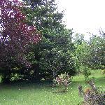 le jardin a 100 metres de l'hotel