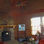 living room in cabin