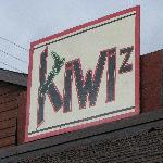 the sign  above Kiwi's