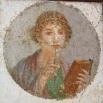 Portrait of Sappho, fresco from Pompeii