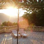 so weckte uns die Sonne morgens