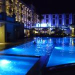 this is the pool during the night