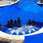 jacuzzi inside pool!