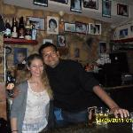 My husband with Ahanasios- our angle bartender