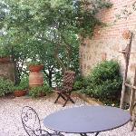 The patio at Il Nido