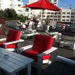 The beautiful roof terrace