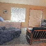 Drifters View Cabin Living area