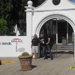 At entrance of Arena Dorada
