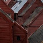 Bryggen warehouses rooflines