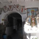Esculturas y pinturas de decoración del patio