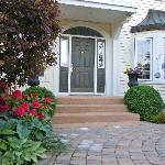 Front Entrance with Rhododendrons in Bloom
