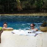 Enjoying our beautiful plunge pool
