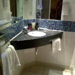 Spacious and clean bathroom