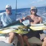 Bud and Shane Turpin holding 2 nice Mahi Mahi picked up back to back!