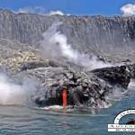 The balance of the earth exposed on a Hawaii Lava Ocean Boat Tour