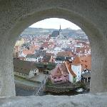 Cesky Krumlov from the castle