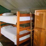 There are also bunk beds for kids (or warring couples!!)