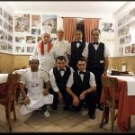 Here is the wonderful and caring staff of Antica Boheme.  And the waiter in the middle of the fi