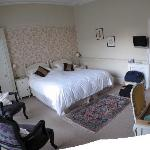 Panoramic photo of our bedroom - look how big!