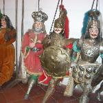 Marionettes on display inside the tourist bureau.