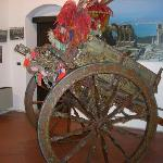 The hand-painted cart inside the tourist bureau is really quite beautiful.