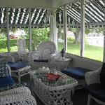 Screened-in porch to relax in...