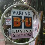Look for this sign on main road to Lovina Beach