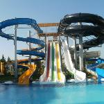 The water slides (very fast)