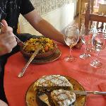pastela y cuscus riquisimos!