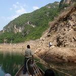 The Tour Line of Shennong River Ba Dong Hu Bei Boat Trackers Foto